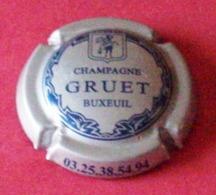 (dch-071) Capsule Champagne  Gruet   Gris/bleu   -   Grijs/blauw - Champagnerdeckel