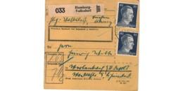 Allemagne  / Colis Postal  / Départ Hamburg-Volksdorf  / 4-9-43 - Covers & Documents