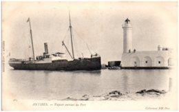 06 ANTIBES - Vapeur Entrant Au Port - Antibes