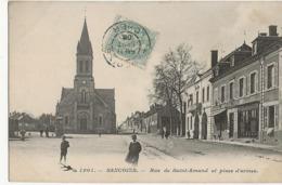 SANCOINS  - Rue De Saint-Amand Et Place D'armes - Sancoins