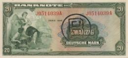 BRD Ro 241a 20 DM Serie J...A 1948 Mit B AUNC - [ 7] 1949-… : RFD - Rep. Fed. Duitsland