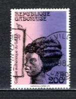 GABON  N° 482   OBLITERE  COTE 1.50€   COIFFURE - Gabun (1960-...)
