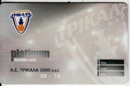 GREECE - Trikala BC, Season Ticket 2009-2010(platinum), Unused - Sport