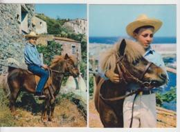 AB709 - LOT 2 CARTES - Chevaux - Poney - Les Aventures De POLY - Horses
