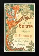 Etiquette De Parfum: Lotion EDISTA. Art Nouveau Style Mucha. Perfume Label (5,7 X 9,2 Cms) (Ref. 116783) - Labels