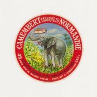 F/ETIQUETTE DE CAMEMBERT GILLOT SAINT HILAIRE DE BRIOUZE DESAILLY RUNGIS ELEPHANT - Quesos
