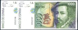 Ref. 168-270 - BIN SPAIN . 1992. 1000 Pesetas Spanish State 12th October 1992. 1000 Pesetas Estado Espa�ol 12 De Octubre - [ 4] 1975-… : Juan Carlos I