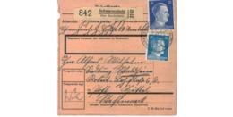 Allemagne  / Colis Postal  / Départ  Schwarzenholz über Saarlautern / Pour Waldheim  Post Spittel - Briefe U. Dokumente