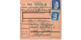 Allemagne  / Colis Postal  / Départ  Schwarzenholz über Saarlautern / Pour Waldheim  Post Spittel - Duitsland
