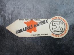 HORAIRES MAYEUX - Dans Les Bibliothèques Des Gares - Lesezeichen