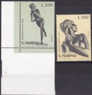 San Marino, 1974, 1067/68,  MNH **,   Europa: Skulpturen. - San Marino