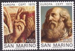 San Marino, 1975, 1088/89,  MNH **,   Europa: Gemälde. - San Marino