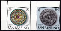 San Marino, 1976, 1119/20,  MNH **,  Europa: Kunsthandwerk. - San Marino