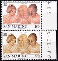 San Marino, 1976, 1123/24,  MNH **,  30 Jahre UNESCO. - San Marino