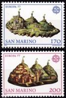San Marino, 1977, 1131/32,  MNH **,  Europa: Landschaften. - San Marino