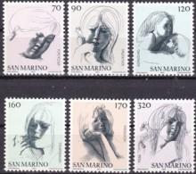 San Marino, 1977, 1133/38,  MNH **,  Freimarken: Die Ziviltugenden. - San Marino