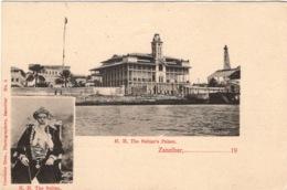 CPA : Tanzanie , Le Sultan's Palace , Zanzibar , Cachet Maritime - Tanzanie