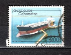 GABON  N° 492   OBLITERE  COTE 1.00€   BATEAUX - Gabun (1960-...)