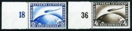 Alemania Imperio A-36/7 (Michel) Nuevo Cat.400€ - Posta Aerea