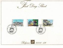Belg. FDS 2008-09 OBP/COB 3772/74 De Tram In Zijn Omgeving / Le Tram Dans Son Environnement. - FDC
