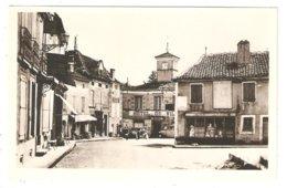 CPA 46 LIMOGNE - Hôtel De Ville - Commerces Mercerie, Pompe à Essence, Voiture Ancienne - Other Municipalities
