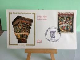 Église Saint Austremoine - 63 Issoire - 10.2.1973 FDC 1er Jour Coté 6€ - 1970-1979