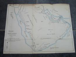 PENINSULE ARABIQUE - Cocessions De L'Eploitation Du Pétrole - Echelle 1/7.500.000 - Geographische Kaarten