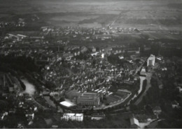 ! Backnang, Baden-Württemberg, Seltenes Luftbild, Moderner Abzug, Nr. 82825, Format 18 X 13 Cm - Backnang