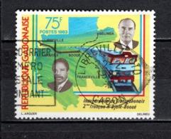 GABON  N° 515   OBLITERE  COTE 0.80€    TRAIN PRESIDENT MITTERRAND - Gabun (1960-...)