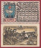 Allemagne 1 Notgeld 1/2 Mark Stadt Strausberg  (RARE) Dans L 'état Lot N °4997 - [ 3] 1918-1933 : Repubblica  Di Weimar