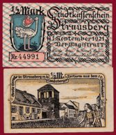 Allemagne 1 Notgeld 1/2 Mark Stadt Strausberg  (RARE) Dans L 'état Lot N °4998 - [ 3] 1918-1933 : Repubblica  Di Weimar