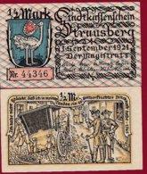 Allemagne 1 Notgeld 1/2 Mark Stadt Strausberg  (RARE) Dans L 'état Lot N °4999 - [ 3] 1918-1933 : Repubblica  Di Weimar