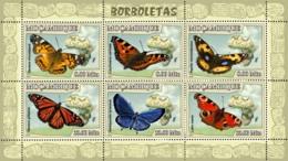 Mozambique 2007 MNH - Butterflies. Sc 1763, YT 2354-2359, Mi 2922-2927 - Mozambique