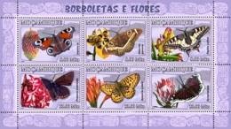 Mozambique 2007 MNH - Butterflies, Flowers. Sc 1774, YT 2360-2365, Mi 2928-2933 - Mozambique