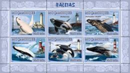 Mozambique 2007 MNH - Whales, Lighthouses. Sc 1771, YT 2348-2353, Mi 3050-3055 - Mozambique