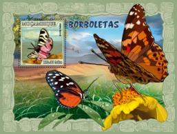 Mozambique 2007 MNH - Butterflies. Sc 1793, YT 154, Mi 2934/BL213 - Mozambique