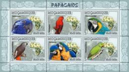 Mozambique 2007 MNH - Parrots. Sc 1773, YT 2468-2473, Mi 3023-3028 - Mozambico