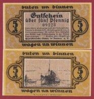 Allemagne 1 Notgeld 5 Pfenning Stadt Bremen  (RARE) Dans L 'état Lot N °5003 - [ 3] 1918-1933 : República De Weimar