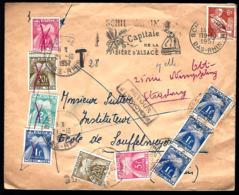 LETTRE TAXÉE EN PROVENANCE DE SCHILTIGHEIM - CAPITALE DE LA BIÈRE D'ALSACE - RETOUR A L'ENVOYEUR - REFUSÉ - - Postage Due