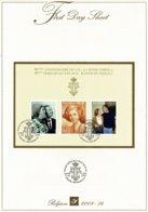 Belg. FDS 2008-14  OBP/COB Bl 156 (3787/89) - 80ste Verjaardag Kon. Fabiola / 80éme Anniversaire De La Reine Fabiola. - FDC