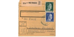 Allemagne  / Colis Postal  / Départ Ober Seemen  /  Pour Kochern ( Cocheren) Par Forbach   / 25-11-43 - Deutschland