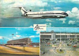 Aviation > Avions-  AEROPORT DE PARIS (B) Avion Boeing 727 AIR FRANCE Les Aérogares D'Orly Sud Et Du Bourget *PRIX FIXE - Aeródromos
