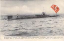 """EVENEMENTS Catastrophe 1910 - Le Submersible """" PLUVIOSE """"- Le Commandant CALLOT Disparu Devant CALAIS (62) CPA - - Katastrophen"""
