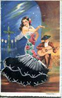 N°77994 -cpa Brodée -Tarantas- - Embroidered