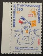 TAAF: Yvert N° 73 (30e Anniversaire Des Expéditions Polaires, Dessin De P. E. Victor, 1977) Neuf ** - Événements & Commémorations