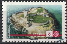 France 2019 Oblitéré Used Patrimoine Fort Cigogne Bretagne Stéphane Bern - Francia