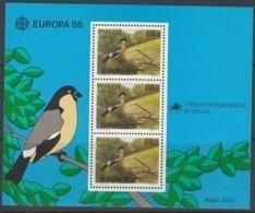 AZOREN Block 7, Postfrisch **, Europa CEPT:  Natur- Und Umweltschutz 1986 - Europa-CEPT