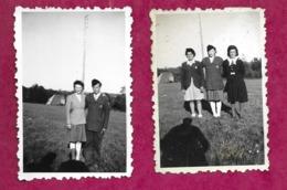 Lot De 2 PHOTOS 8,5 X 5,5 Cm ..MILITAIRE, FEMMES ( PIN UP) - Pin-Ups