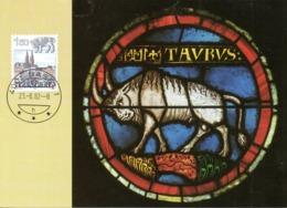SUISSE. N°1159 Sur Carte Maximum De 1982. Taureau. - Astrology