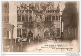 GUERRE 14-18 ..-- BUKOVO ..-- MONASTIR ..-- SERBIE ..-- Intérieur De L' Eglise . 1918 Vers France . Voir Verso . - Serbie